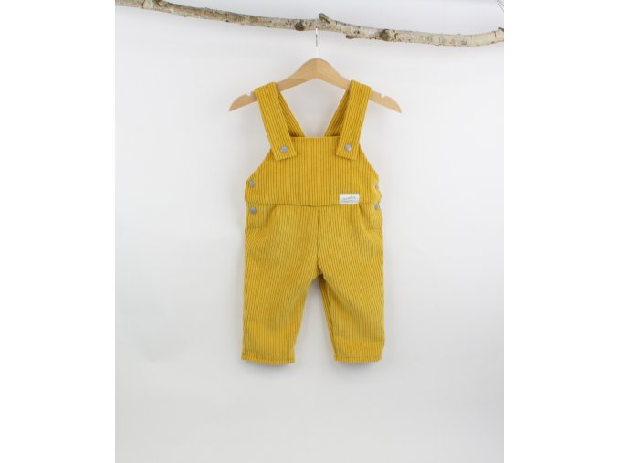 Manšestrové laclové kalhoty hořčicové (Velikost 92)