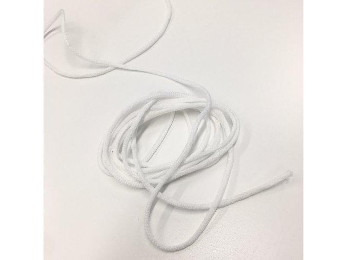 roušková pruženka kulatá 2,5-3mm - bílá, měkká - 10m svazek