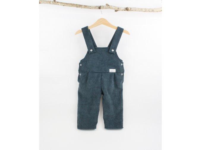 Manšestrové laclové kalhoty modrošedé (Velikost 86)