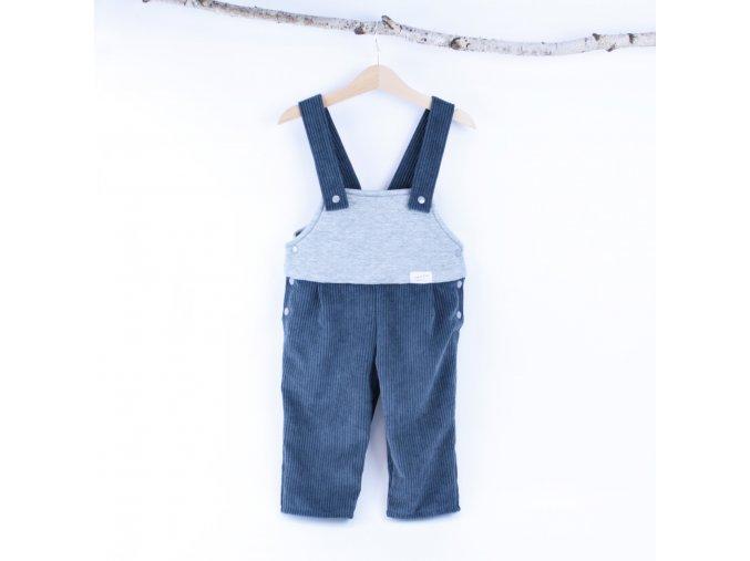 309 mansestrove laclove kalhoty dvoubarevne modrosede