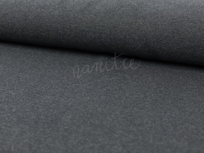 pletenina - směsový úplet - antracitový 790
