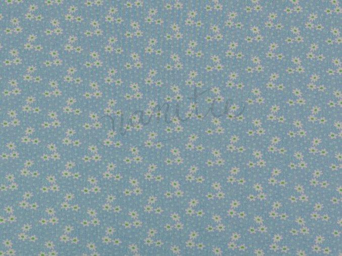 Bavlněné plátno - kytičky Midinette na světle modré 020