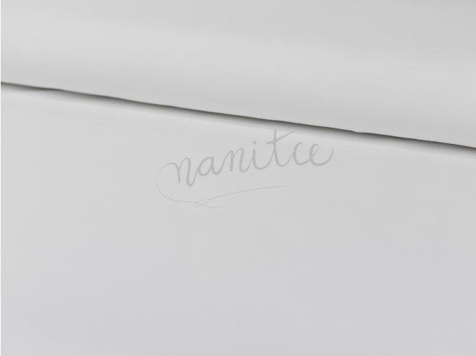 Teplákovina nepočesaná - bílá 011