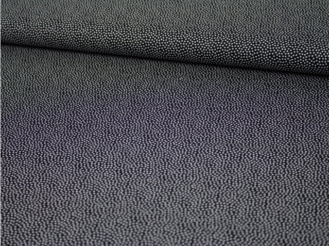 Bavlněné plátno - černé s bílými puntíky 299