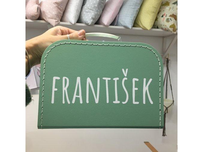 Kufřík zelený se jménem na přání