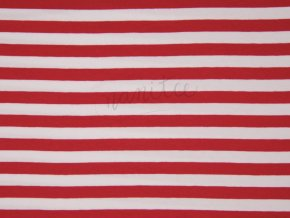 SPANDEX STRIPES RED KC3003 015