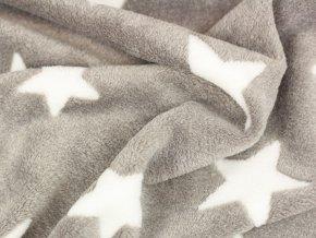 Fleece - hvězdičky béžová