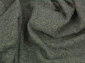 Bavlněný žakár - melír tmavě zelená