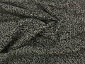 Bavlněný žakár - melír šedá