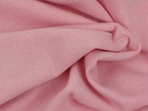Teplákovina počesaná - světle růžová T628880