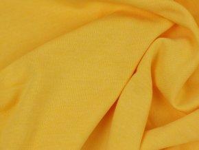 Teplákovina počesaná - světle žlutá T077268