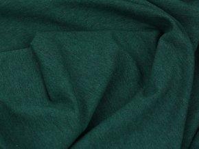 Teplákovina nepočesaná - tmavě zelený melír S1563