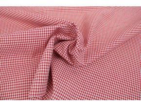 Bavlněné plátno - červená kostička