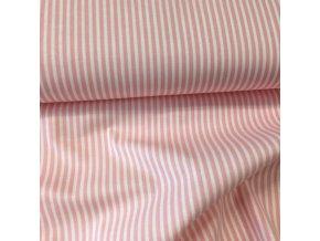 Bavlněné plátno - proužek růžový 3mm