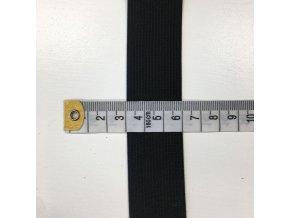 Prádlová pruženka plochá šíře 3cm - černá