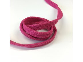 bavlněná šňůra plochá šíře 10mm růžová
