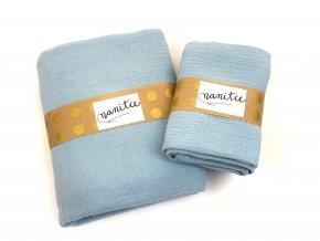 Mušelínový šátek světle modrý