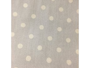 Bavlněné plátno  - béžový puntík na béžové