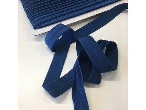 Lemovací pruženka šíře 18mm tmavě modrá