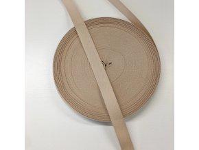 keprovka - tkaloun bavlněný 15mm béžový 10m svazek