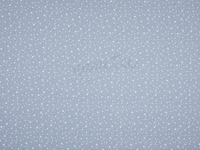 COTTON POPLIN PRINT DOTS BLUE KC0312 103