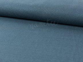 Lněný úplet - středně modrý 695