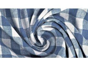 Bavlněné plátno - modro bílé káro 1cm