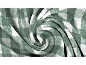 Bavlněné plátno - zeleno bílé káro 1cm