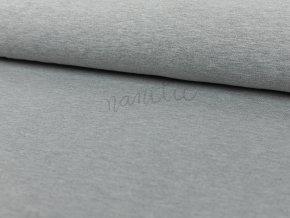 Teplákovina nepočesaná - světle šedý melír 950