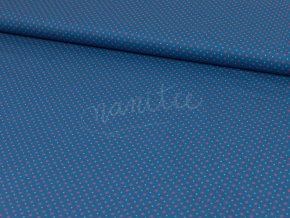 Bavlněné plátno - středně modré s hvězdičkami 253