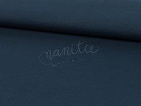 Bavlněný úplet -  tmavě modrý 600
