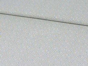 Bavlněné plátno - světle šedé s barevnými puntíky