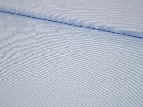 Bavlněné plátno - modré s bílými proužky