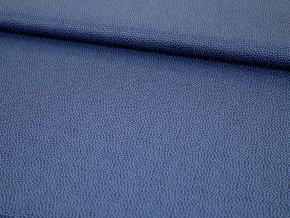 Bavlněné plátno - tmavě modré s modrými puntíky 596