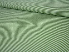 bavlněné plátno pruhované zelené
