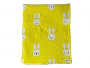 žlutá deka