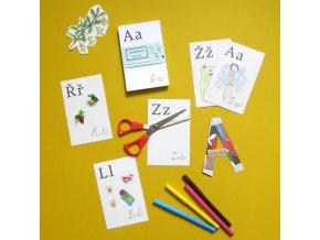 """Sada kartiček """"Dokresli si abecedu"""""""