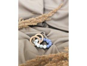 silikonové kousátko modro mramorové