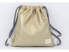 zlatý dětský batůžek