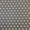 Bavlněné plátno - šedé s bílými hvězdičkami 165