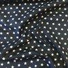 Bavlněné plátno - tmavě modré s bílými hvězdičkami