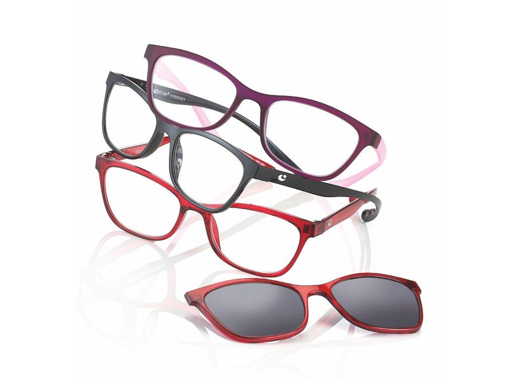 čtecí brýle s klipem c