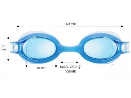 Dětské plavecké dioptrické brýle