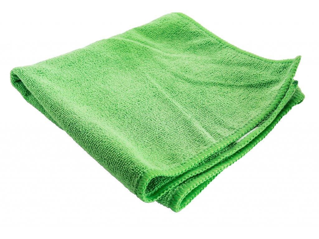 Mikrofázová utěrka Alpin zelená bílá