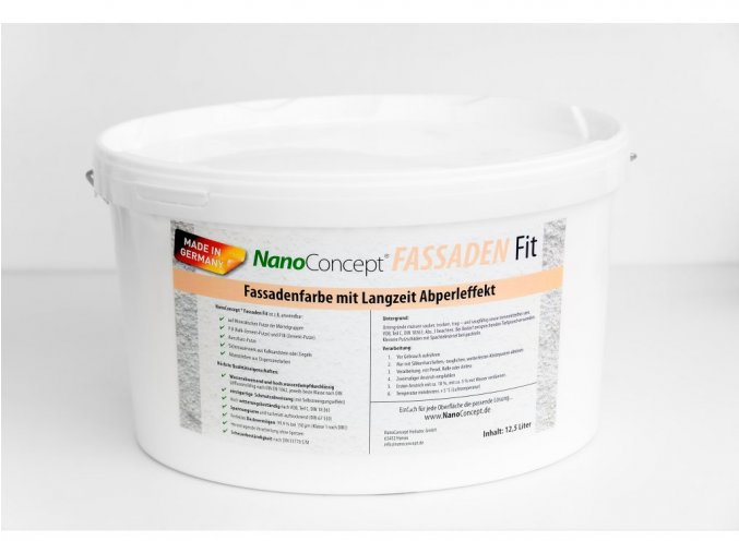 Fasádní barva se samočistícím a perlovým efektem BAREVNÁ 12,5 litrů (více než 50 odstínů)