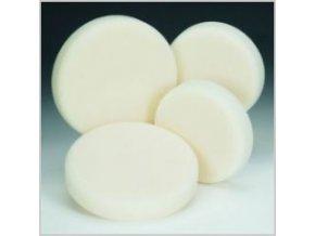 Brusná houba bílá tvrdá průměr 130 x 30 se suchým zipem