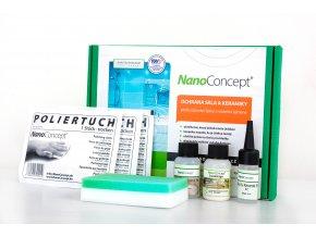 Set nano ochrana skla a keramiky proti usazování špíny a vodního kamene 30 ml