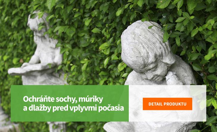 Ochráňte sochy, múriky a dlažby pred vplyvmi počasia
