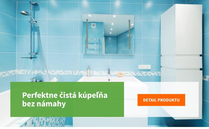 perfektne čistá kúpeľňa bez námahy