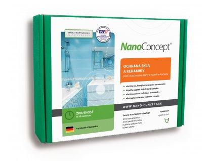 Set nano ochrana skla a keramiky proti usádzaniu špiny a vodného kameňa 30 ml